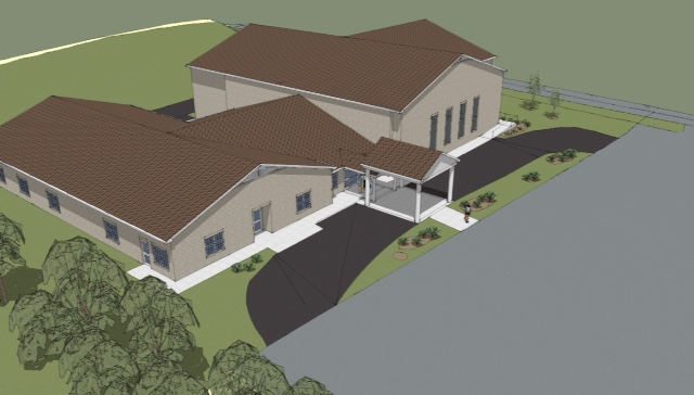 Aerial Drawing of Family Life Center