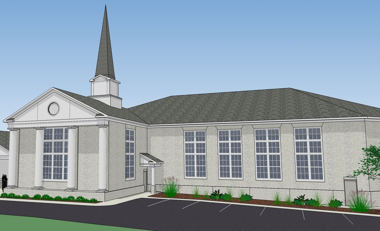 Drawing of New Worship Center