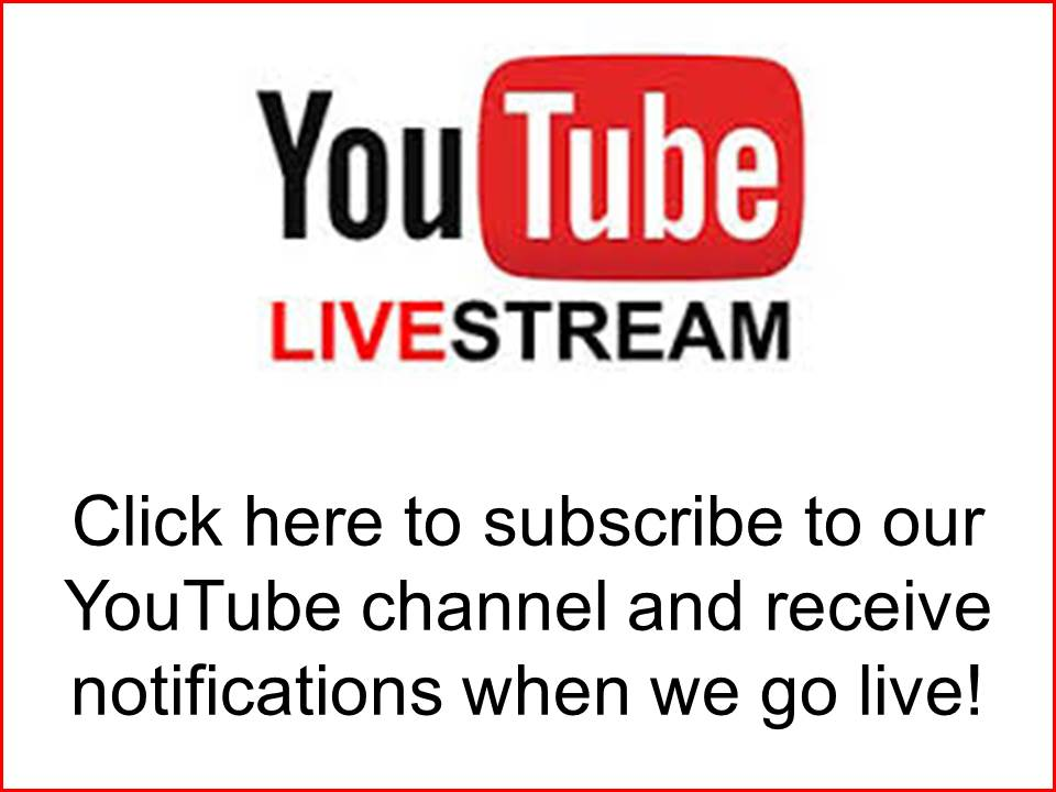 All services are live streamed on our Youtube channel (phbcelkin). Click here to subscribe.
